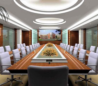 现代简约风会议室装修设计图