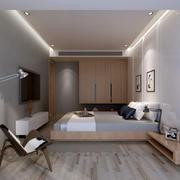 卧室现代局部不规则户型装修