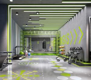 时尚健身房设计装修效果图