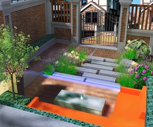 30平小花园设计实景图