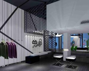 现代简欧风格服装店装修设计效果图