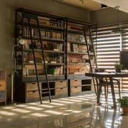 书房复古局部大户型装修