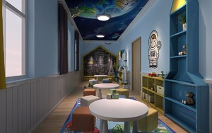 自然风格幼儿园室内装修效果图