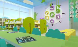 轻快幼儿园风格室内装修效果图赏析