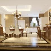 欧美风情家庭餐厅装修效果图
