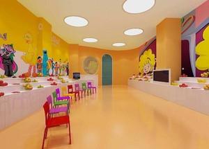 清新自然幼儿园室内装修效果图赏析