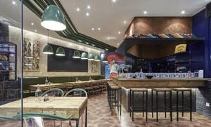 复古风主题餐厅装修效果图