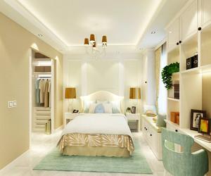 衣帽间卧室一体效果图
