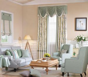 田园风格窗帘设计装修图