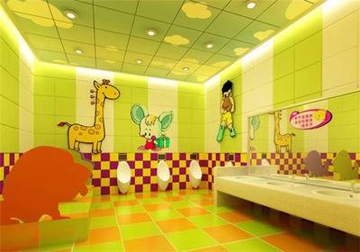 清新风格幼儿园卫生间装修效果图赏析