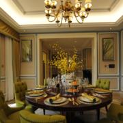 欧式风格别墅餐厅装修效果图