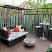 阳台中式花园小户型装修