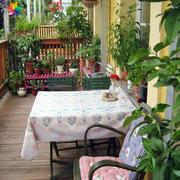 3平小阳台花园实景图片