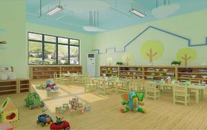 轻快幼儿园室内装修效果图