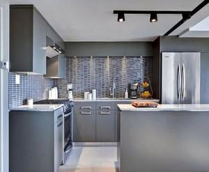 半开放式厨房装修设计图