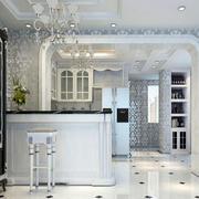 现代简约半开放厨房装修设计图