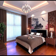 中式古典装修卧室效果设计图
