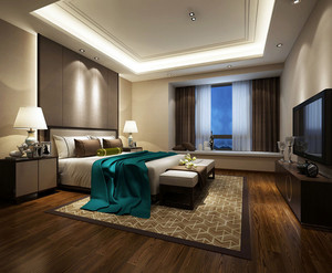 中式风格卧室装修设计效果图