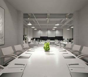 现代简约风格会议室装修图