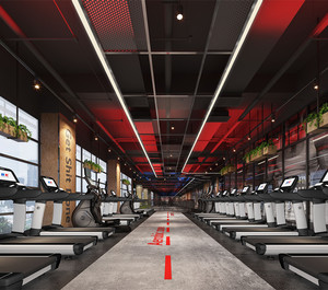 现代健身房设计装修效果图