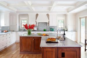 现代简欧风格厨房吊顶效果图