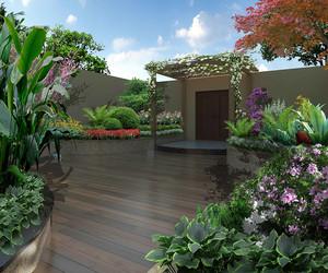 屋顶花园设计实景图片