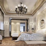 现代别墅卧室背景墙装修效果图