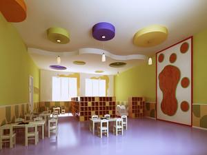 简约风格幼儿园室内装修设计效果图