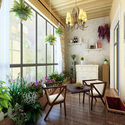 小户型阳台花园图片