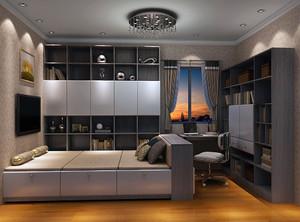 2018榻榻米卧室效果图,榻榻米要按照卧室面积进行装饰。床不要和门口正对着,这样会影响风水,而且活动起来也不方便。榻榻米的一侧要和墙壁挨着,这样能够让空间显得宽敞一些。