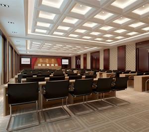 100平米会议室装修图