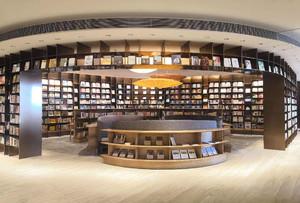 巴洛克风格书店装修设计效果图