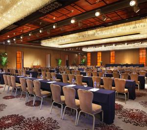 80平米中式古典会议室效果图