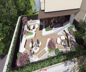 楼顶花园设计效果图