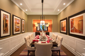 大户型美式风格餐厅装修效果图
