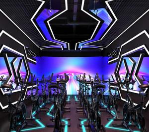 时尚80平米健身房装修效果图