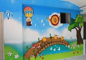 清新风格幼儿园墙绘设计效果图赏析