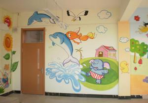 轻快风格幼儿园墙绘设计效果图