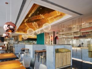 300平方米餐厅装修效果图