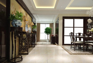 新中式走廊吊顶装修效果图