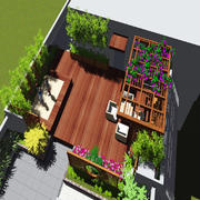 私家楼顶花园设计