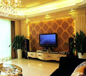 家庭电视机背景墙装修效果图