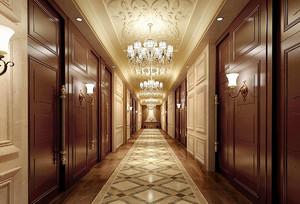 欧式酒店走廊吊顶装修效果图