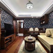 老上海风格客厅吊顶装修效果图