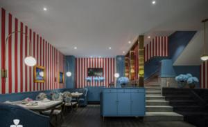 300平米餐厅装修效果图赏析