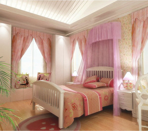 粉色儿童房装修效果图