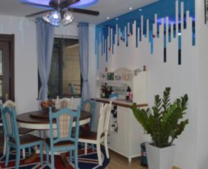 地中海风格餐厅背景墙装修设计效果图