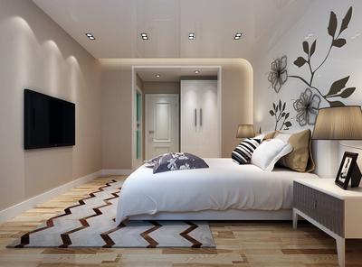 現代臥室背景墻裝修效果圖