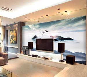 自然风格电视背景墙效果图