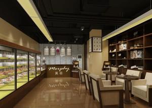 现代简欧面包店装修效果图